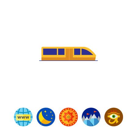 Subway train icon