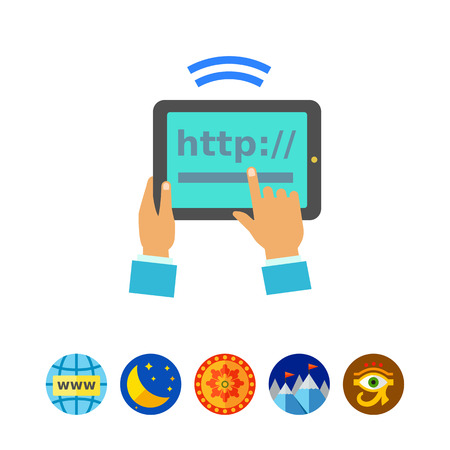 wireless signal: Tablet Internet Connection Icon Illustration