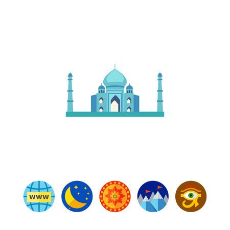 agra: Taj Mahal icon