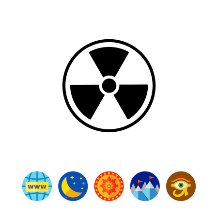 to warn: Radiation simple icon