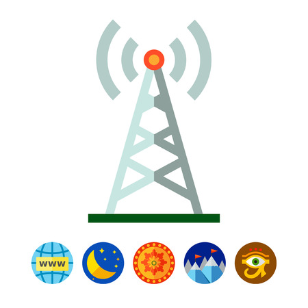 Radio tower icon Ilustrace