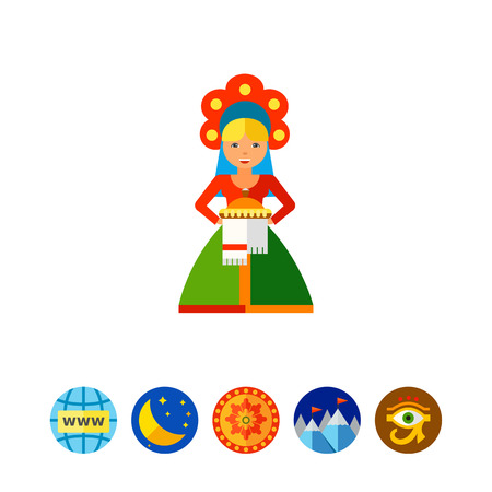 Russian Welcome Icon Illustration