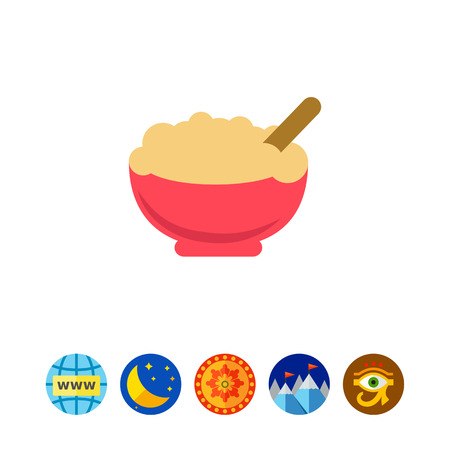 carbohydrate: Porridge icon Illustration