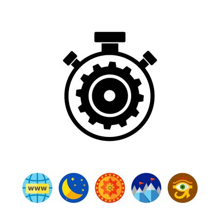 open source: Stopwatch as Processing Concept Icon Illustration