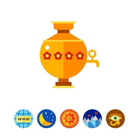 Samovar Vector Icon Illustration