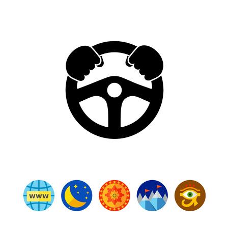 Lenkrad einfaches Symbol Standard-Bild - 80504513