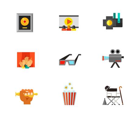 cinematograph: Cinematograph icon set