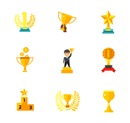 goblet: Competition award icon set