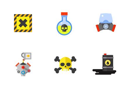 biohazard: Danger icon set