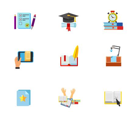 stress test: Education icon set Illustration