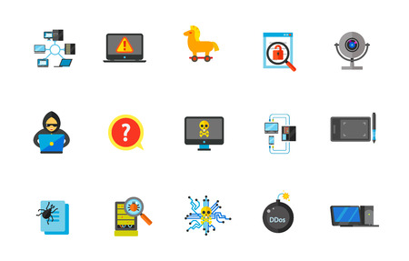 email bomb: Network icon set