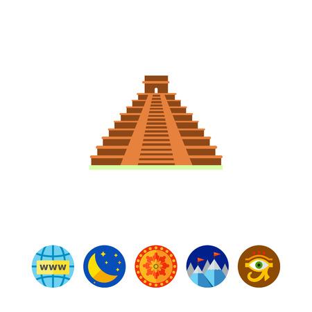 Maya pyramid icon