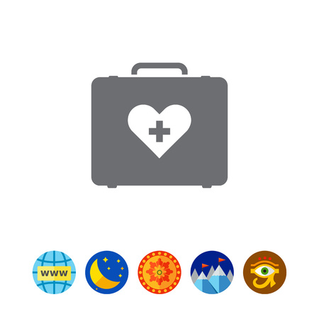 cross: Icon of medical kit