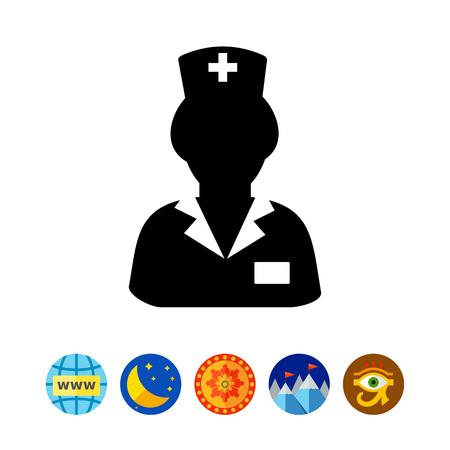 Nurse in Uniform Icon