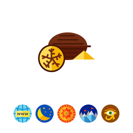 Nutmeg flat icon