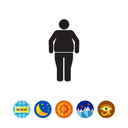 Obese man icon Ilustração