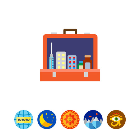 urgency: Open first aid kit icon Illustration