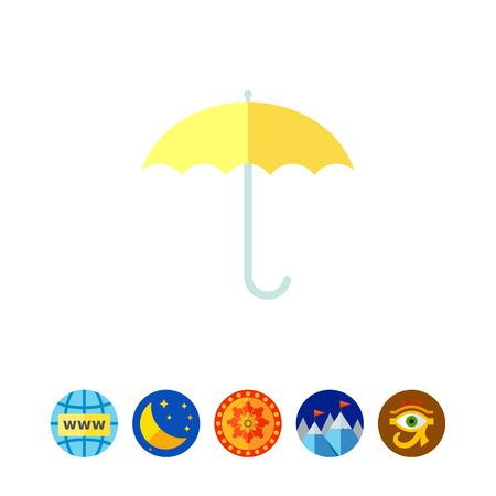 Open umbrella Illustration