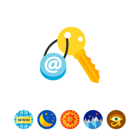 classified: Email key concept icon