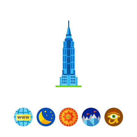 Empire State building icon Иллюстрация