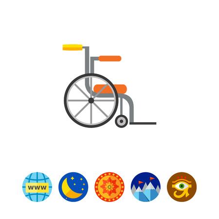 空の車椅子アイコン