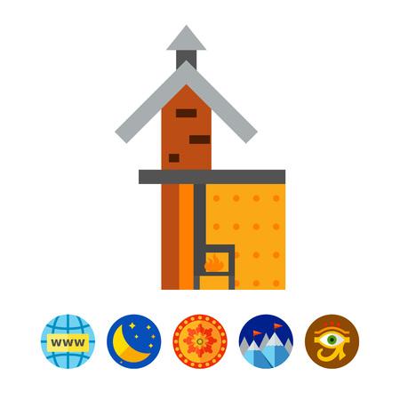 Fireplace scheme icon Çizim