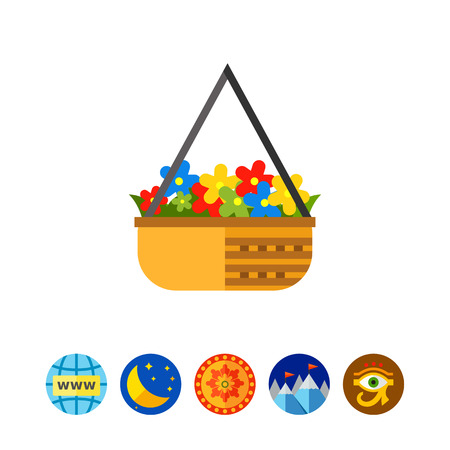 Flower Pot with Pansies Icon