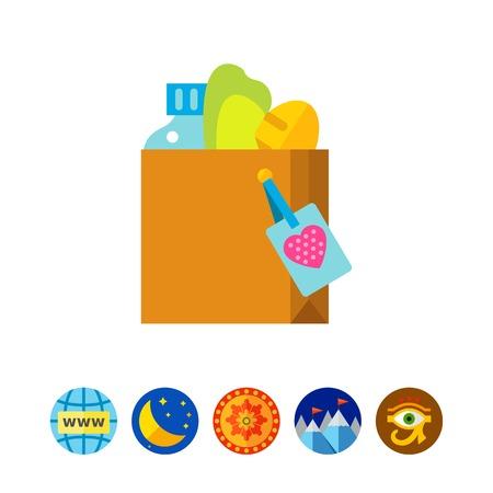 altruismo: Icono de comida donar icono