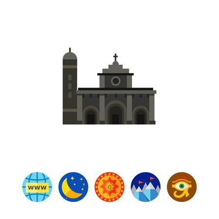 Gloomy Manila Cathedral icon