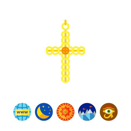 Gold cross icon