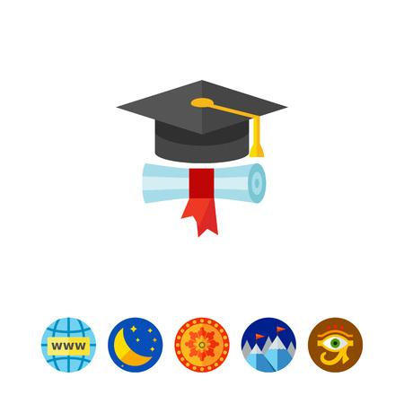 higher intelligence: Graduation concept icon