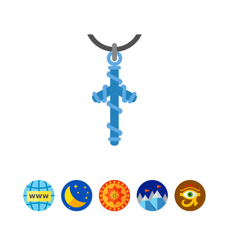 Grapevine cross vector icon Иллюстрация