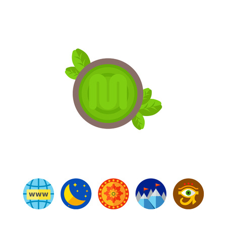 Green pesto sauce icon Иллюстрация