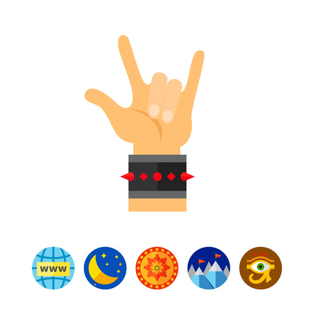 Hand sign rock-n-roll icon Illustration