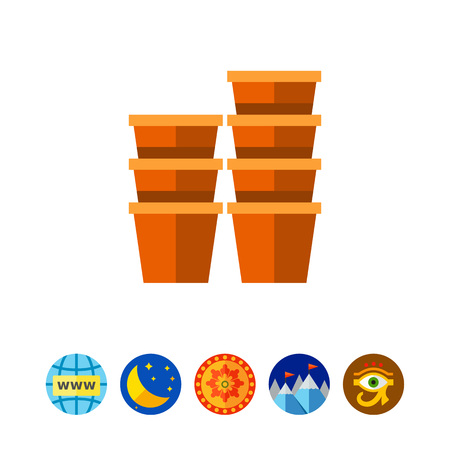 Growing peat pots icon