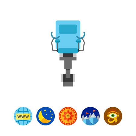 Gynecological chair vector icon