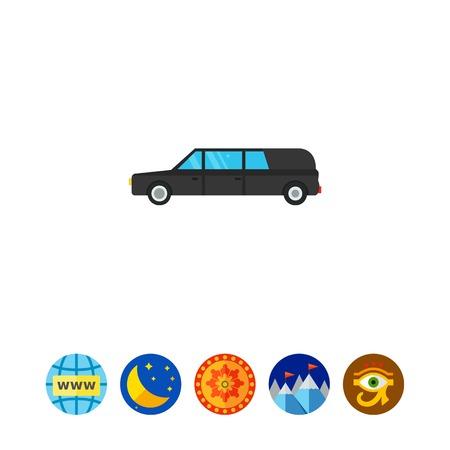 Hearse car icon