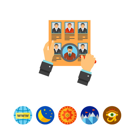 candidates: Head hunting concept icon
