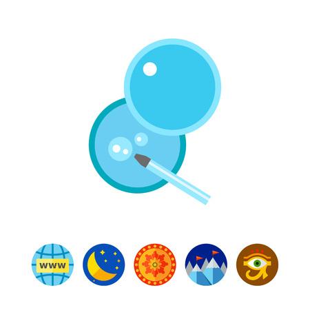 insemination: In vitro fertilization vector icon