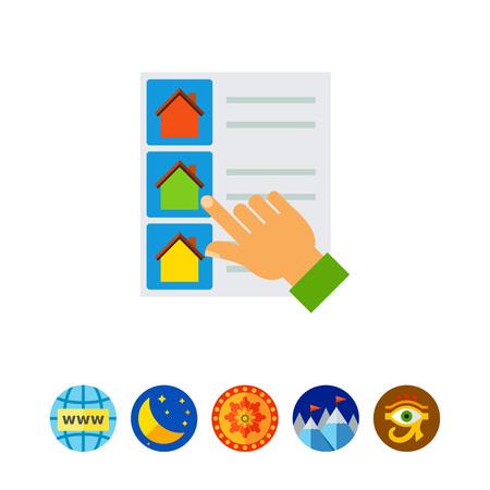 Huis lijst selecteren pictogram