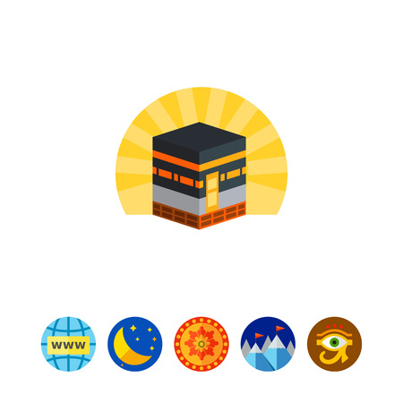 Kaaba in mecca icon