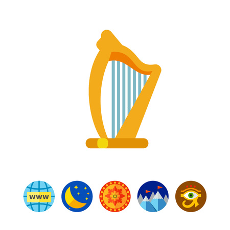 Irish harp vector icon