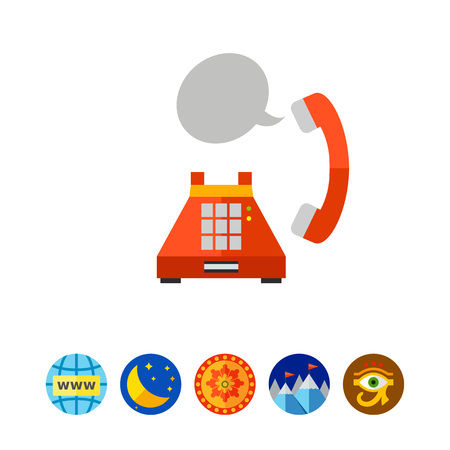 Landline phone conversation icon