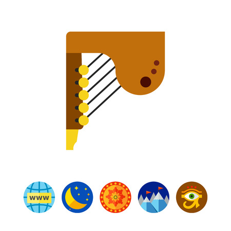Ludofono icono de instrumento musical Vectores
