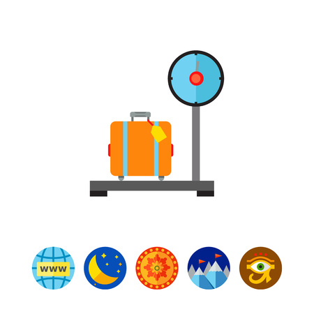 Luggage on Scales Vector Icon