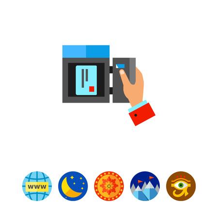 Mail box icon Illustration