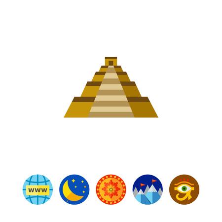 Mayan Temple pyramid of Kukulkan icon
