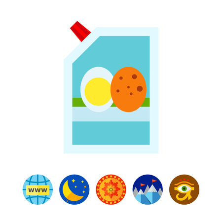 pouch: Mayonnaise in bag icon Illustration