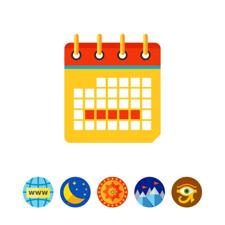 Menstrual calendar vector icon