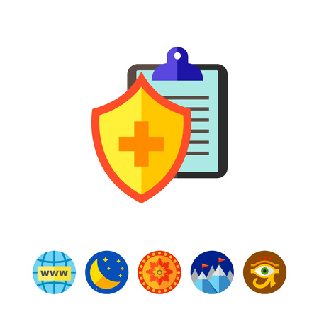 医療保険のアイコン 写真素材 - 80890847